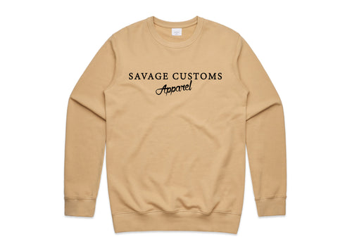 Tan Premium Crew Neck Jumper