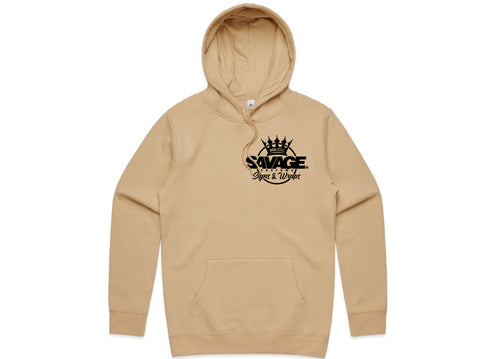 Savage Beige Hood in Black