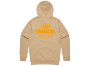 Savage Beige Hood in fluorescent Orange