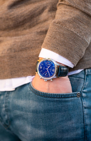 The Chestor Steel/Blue - Blue Leather