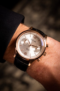 The Chestor Rosegold/Silver - Black croco