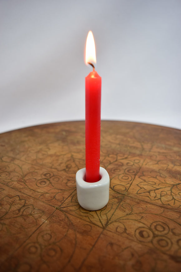 Porcelain Chime Candle Holder