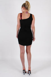 """SUPERIOR"" KNIT RIB SHOULDER DRESS"
