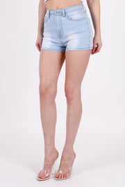 HIGHWAISTED BASIC DENIM SHORTS