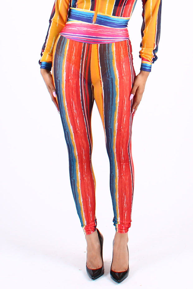 MESH STRIPE PANTS