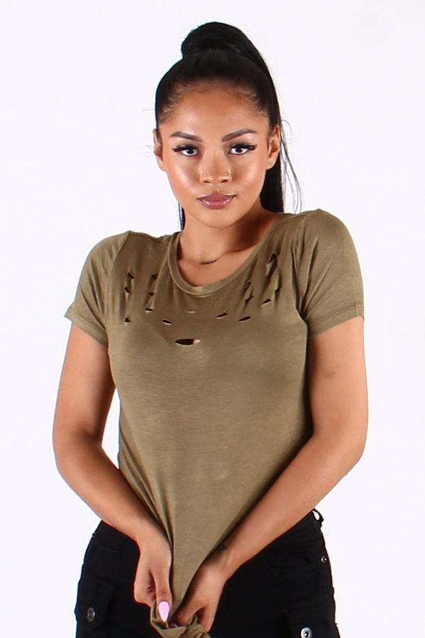 RAYON TIE FRONT TOP