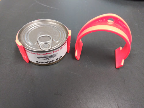 Can holding clips for our 3 oz. crawfish bait cans