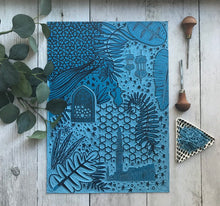 Load image into Gallery viewer, Arabian Nights Lino Print