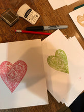 Load image into Gallery viewer, Festive Stamp Carving and Card Printing Workshop