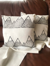 Load image into Gallery viewer, Cairngorm Mountain Linen Cushion