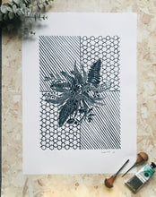 Load image into Gallery viewer, Summer Bouquet Original Lino Print 42 x60cm