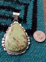 Gaspiate Pendant, Native American handcrafted sterling silver