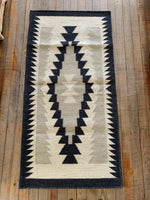Handwoven Navajo Inspired Wool Rug; Style 2116