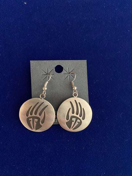 "Navajo Sterling Silver Earrings; Approx. 1 1/2""L X 1""W; ER31-3"