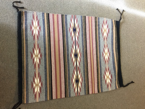 "Vintage Wide Ruins Navajo rug from the 1960's.  Weaver unknown. Approx 23"" x 31"""
