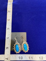 Native American Sterling Silver and Turquoise Earrings; ER-X1