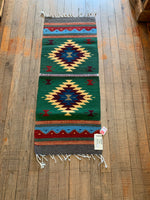 "Zapotec Runner; Approx 16""x40""; Handwoven; Wool"