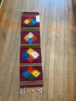 "Zapotec Handwoven Wool Runner for table top, wall use, or floor.   Approx 10""x39"""