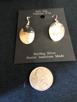 Plain silver ovals in sterling silver, Navajo