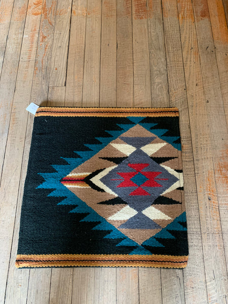 "Southwest Inspired Wool Throw Pillow; 18""x18""; Insert Included"