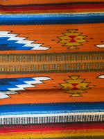 "Zapotec Handwoven Wool Rug; Approx 32""x64"""