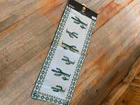 "Cactus Table Runner; 13""x72""; Cotton Poly Blend"