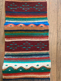 "Zapotec Handwoven Wool Runner for table top, wall or floor use.   Approx 10""x39"""