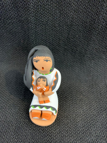 "Jemez Pueblo Storyteller by artist A. Loretta; 2"" tall; 1 child"
