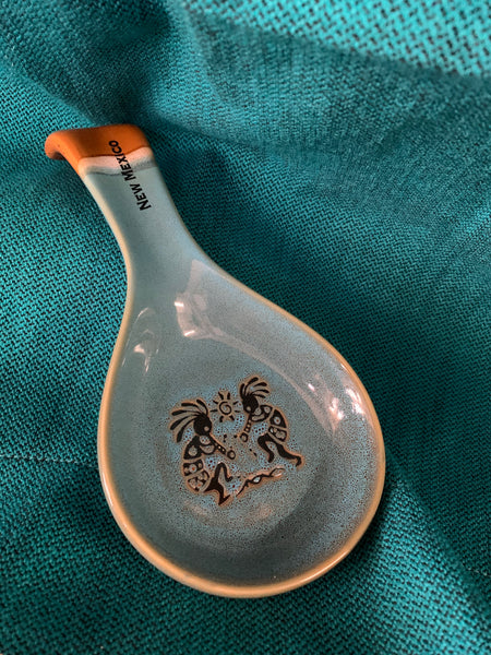 New Mexico Spoon-Rest; Kokopelli; Ceramic