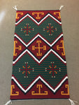 "Navajo handwoven rug approximately 26.5""x49"" artist Deanna Begaye"