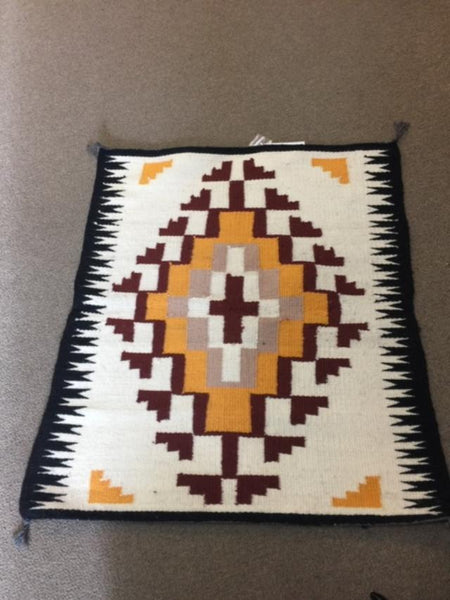 "Vintage Navajo Handwoven Rug approximately 26.5""x31"""