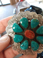 Native American handcrafted sterling silver belt buckle