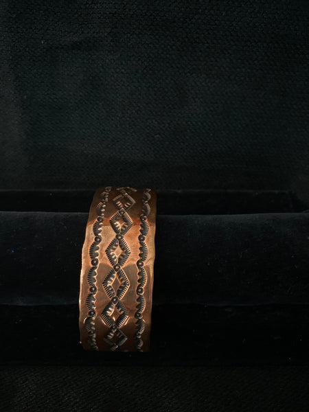 Navajo Made Copper Cuff; CCUFF-D4
