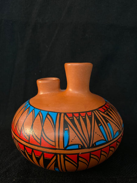 "Authentic Navajo Pottery; Approx. 4.5""H X 5""W w/ 1"" Openings; VTP3-1"