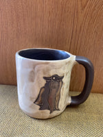 Chile Mara Mug in lead free stoneware pottery.  16oz