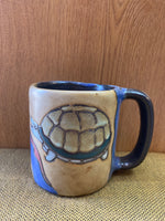 Turtle Mara Mug in lead free stoneware pottery  16 oz