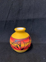 "Authentic Navajo Miniature Pottery; Approx. 3""H X 3""W w/ 1"" Opening; VTP1-6"