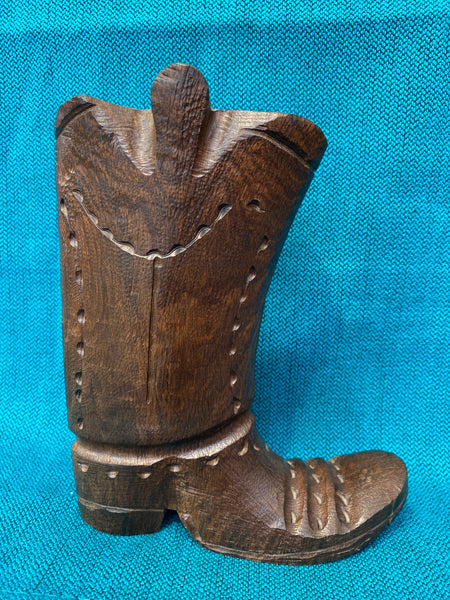 "Ironwood Carvings Large Boot; Approx. 7""H X 5.5""L; IW4-LGBOOT"