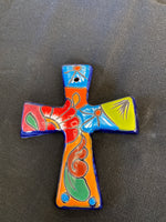 "Mexican Pottery Wall Cross; Approx. 6.5""H X 5.5""W; CC1-7"