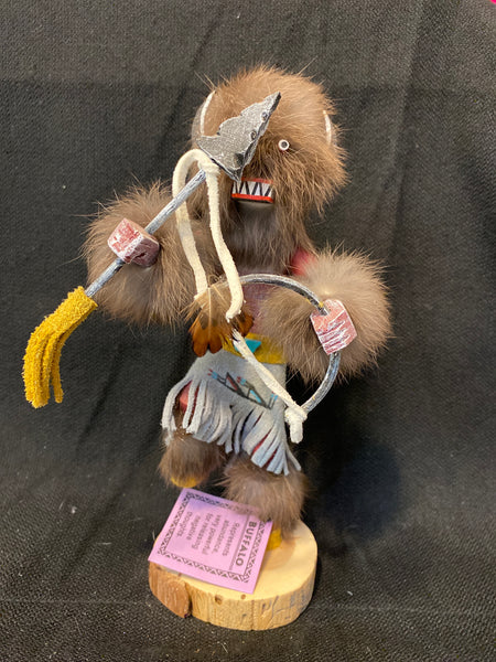 "Navajo Buffalo Kachina Doll; Approx. 9"" Tall; KD9-5"