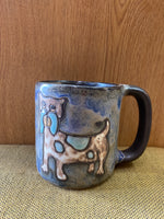 Dog Mara Mug in lead free stoneware pottery.