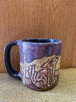 Coyote Mara Mug in lead free stoneware pottery; 16oz