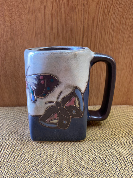 Butterfly Mara Mug in lead free stoneware pottery  12oz