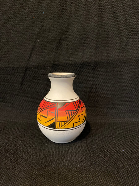 "Authentic Navajo Miniature Pottery; Approx. 4""H X 3""W w/ 1"" Opening; VTP1-2"