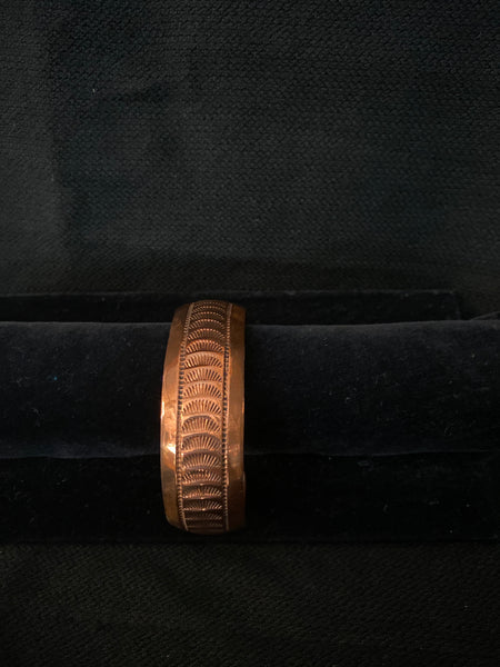 Navajo Made Copper Cuff; CCUFF-D1