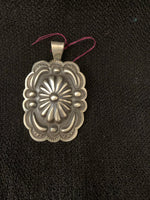 "Sterling silver pendant approximately 2.5"" long 1.5"" wide"