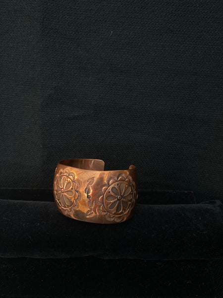 Navajo Made Copper Cuff; CCUFF-C5