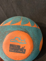 "Acoma Turquoise Terra Cotta Pottery; Approx. 5.5""H X 5""W w/ 1.5"" Opening; Artist J/S Lewis; TP1-4"