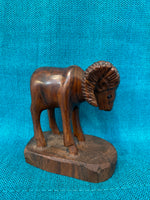 "Ironwood Carvings Medium Young Ram; Approx. 4""H X 4.5""L; IW4-MDYRAM"