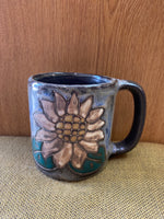 Sunflower Mara Mug in lead free stoneware pottery 16oz